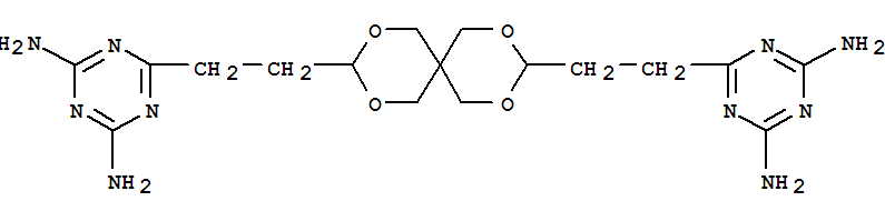 22535-90-6,1,3,5-Triazine-2,4-diamine,6,6'-(2,4,8,10-tetraoxaspiro[5.5]undecane-3,9-diyldi-2,1-ethanediyl)bis-,s-Triazine,2,2'-(2,4,8,10-tetraoxaspiro[5.5]undec-3,9-ylenediethylene)bis[4,6-diamino-(8CI); 2,4,8,10-Tetraoxaspiro[5.5]undecane, 1,3,5-triazine-2,4-diamine deriv.;3,9-Bis[2-(2,6-diamino-s-triazin-4-yl)ethyl]-2,4,8,10-tetraoxaspiro[5.5]undecane;3,9-Bis[2-(3,5-diamino-2,4,6-triazaphenyl)ethyl]-2,4,8,10-tetraoxaspiro[5,5]undecane;3,9-Bis[2-(4,6-diamino-s-triazin-2-yl)ethyl]-2,4,8,10-tetraoxaspiro[5.5]undecane;6,6'-(2,4,8,10-Tetraoxaspiro[5.5]undecane-3,9-diyldi-2,1-ethanediyl)bis(1,3,5-triazine-2,4-diamine);CTU-guanamine