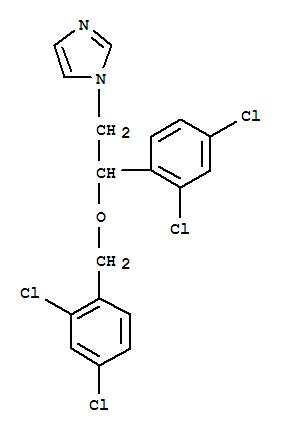 Molecular Structure of 22916-47-8 (1H-Imidazole,1-[2-(2,4-dichlorophenyl)-2-[(2,4-dichlorophenyl)methoxy]ethyl]-)
