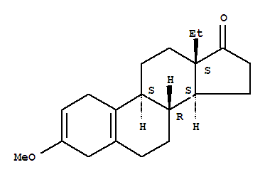 Molecular Structure of 2322-77-2 (Gona-2,5(10)-dien-17-one,13-ethyl-3-methoxy-)