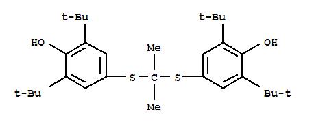 Molecular Structure of 23288-49-5 (Phenol,4,4'-[(1-methylethylidene)bis(thio)]bis[2,6-bis(1,1-dimethylethyl)-)