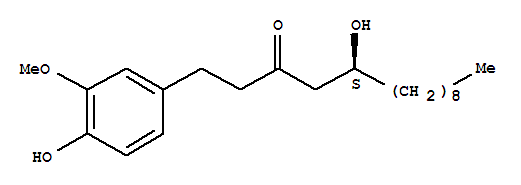 Molecular Structure of 23513-15-7 (10-Gingerol)