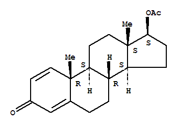 Molecular Structure of 2363-59-9 (Androsta-1,4-dien-3-one,17-(acetyloxy)-, (17beta)-)