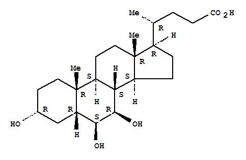 acid,3,6,7-trihydroxy-, (3a,5b,6b,7b)-; Molecular Structure: