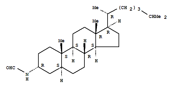 24306-95-4,Formamide, N-(3a,5a)-cholestan-3-yl- (9CI),Formamide,N-5a-cholestan-3a-yl- (6CI,8CI); Cholestane,formamide deriv.; NSC 31872