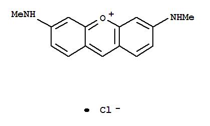 Molecular Structure of 2465-29-4 (Xanthylium,3,6-bis(methylamino)-, chloride (1:1))