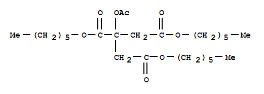 Molecular Structure of 24817-92-3 (1,2,3-Propanetricarboxylicacid, 2-(acetyloxy)-, 1,2,3-trihexyl ester)