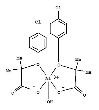 Molecular Structure of 24818-79-9 (Aluminum,bis[2-(4-chlorophenoxy-kO)-2-methylpropanoato-kO]hydroxy-)