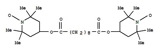 2516-92-9,1-Piperidinyloxy,4,4'-[(1,10-dioxo-1,10-decanediyl)bis(oxy)]bis[2,2,6,6-tetramethyl-,Piperidinooxy,4-hydroxy-2,2,6,6-tetramethyl-, sebacate (2:1) (ester) (8CI);Piperidinooxy,4-hydroxy-2,2,6,6-tetramethyl-, sebacate (7CI);Sebacic acid, diester with4-hydroxy-2,2,6,6-tetramethylpiperidinooxy (8CI);Bis(1-oxyl-2,2,6,6-tetramethylpiperidin-4-yl) sebacate;Bis(2,2,6,6-tetramethylpiperidin-1-oxyl-4-yl) decanedioate;Bis(2,2,6,6-tetramethylpiperidin-1-oxyl-4-yl) sebacate;CXA 5415;Ciba 5415;MP1002;Prostab 5415;