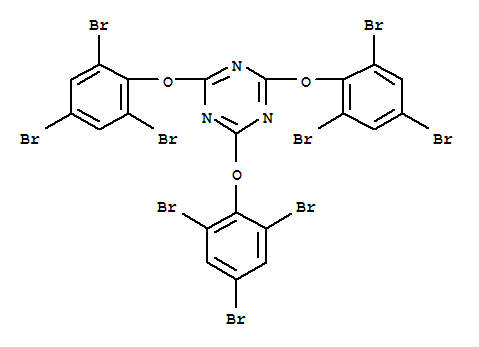 Molecular Structure of 25713-60-4 (2,4,6-Tris-(2,4,6-tribromophenoxy)-1,3,5-triazine)