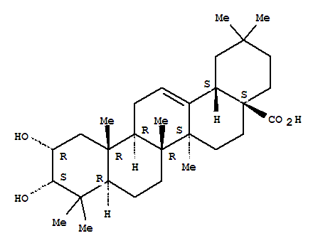 Molecular Structure of 26563-68-8 (Olean-12-en-28-oicacid, 2,3-dihydroxy-, (2a,3a)-)