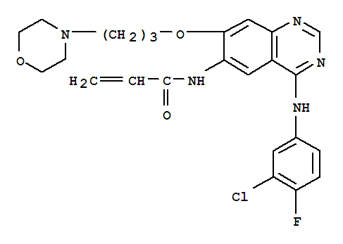Molecular Structure of 267243-28-7 (2-Propenamide,N-[4-[(3-chloro-4-fluorophenyl)amino]-7-[3-(4-morpholinyl)propoxy]-6-quinazolinyl]-)