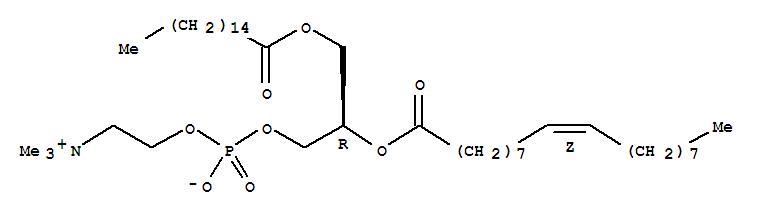 Molecular Structure of 26853-31-6 (3,5,8-Trioxa-4-phosphahexacos-17-en-1-aminium,4-hydroxy-N,N,N-trimethyl-9-oxo-7-[[(1-oxohexadecyl)oxy]methyl]-, inner salt,4-oxide, (7R,17Z)-)