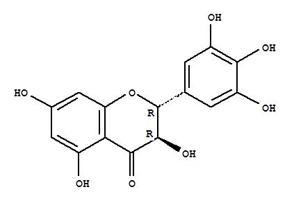 27200-12-0,4H-1-Benzopyran-4-one,2,3-dihydro-3,5,7-trihydroxy-2-(3,4,5-trihydroxyphenyl)-, (2R,3R)-,4H-1-Benzopyran-4-one,2,3-dihydro-3,5,7-trihydroxy-2-(3,4,5-trihydroxyphenyl)-, (2R-trans)-;Ampelopsin (6CI);Flavanone, 3,3',4',5,5',7-hexahydroxy- (7CI,8CI);(+)-Ampelopsin;(+)-Dihydromyricetin;Ampelopsin (flavanol);Ampeloptin;