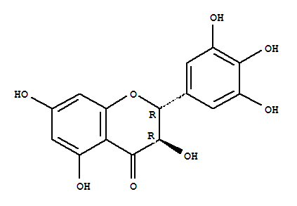 Molecular Structure of 27200-12-0 (4H-1-Benzopyran-4-one,2,3-dihydro-3,5,7-trihydroxy-2-(3,4,5-trihydroxyphenyl)-, (2R,3R)-)