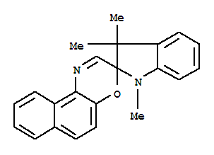 Molecular Structure of 27333-47-7 (1,3,3-Trimethylindolinonaphthospirooxazine)