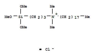 27668-52-6,1-Octadecanaminium,N,N-dimethyl-N-[3-(trimethoxysilyl)propyl]-, chloride (1:1),1-Octadecanaminium,N,N-dimethyl-N-[3-(trimethoxysilyl)propyl]-, chloride (9CI);Ammonium,dimethyloctadecyl[3-(trimethoxysilyl)propyl]-, chloride (8CI);(3-(Trimethoxysilyl)propyl)octadecyldimethylammonium chloride;5700Antimicrobial Agent;A 9-6346;AEM 5700;AY 43-006;Aegis AEM 5700;Agrishield;BioShield AM 500;BioShield AM 500I;CA 200;CA 200 (quaternary compd.);DA5700;DC 5700;DK-Q 8-8905;DMOAP;Dimethyloctadecyl[3-(trimethoxysilyl)propyl]ammonium chloride;Dow Corning5701;Goldshield 5;LS 6985;N-Octadecyldimethyl[3-(trimethoxysilyl)propyl]ammonium chloride;Octadecyldimethyl[3-(trimethoxysilyl)propyl]ammoniumchloride;PC 5700;Polon MF 50;Q 9-5700;Q 9-6346;Quat-Silsesquioxane;SIO6620;SiQAC;XS 70-241;XZ 2-2300;[3-(Trimethoxysilyl)propyl]dimethyloctadecylammonium chloride;