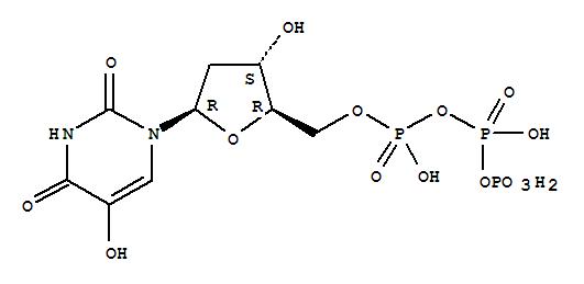 Molecular Structure of 27972-89-0 (Uridine5'-(tetrahydrogen triphosphate), 2'-deoxy-5-hydroxy- (9CI))