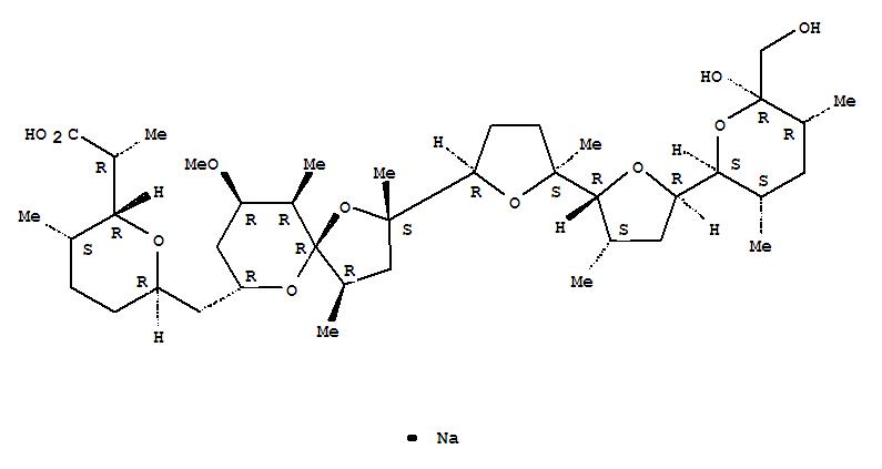 28643-80-3,Nigericin, sodium salt(1:1),Nigericin,monosodium salt (8CI,9CI); 1,6-Dioxaspiro[4.5]decane, nigericin deriv.; NSC292567; Nigericin sodium salt; Sodium nigericin