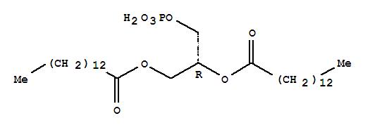 28874-52-4,Tetradecanoic acid,1,1'-[(1R)-1-[(phosphonooxy)methyl]-1,2-ethanediyl] ester,Myristin,1,2-di-, dihydrogen phosphate, L- (8CI); Tetradecanoic acid, (1R)-1-[(phosphonooxy)methyl]-1,2-ethanediylester (9CI); Tetradecanoic acid, 1-[(phosphonooxy)methyl]-1,2-ethanediyl ester,(R)-; 1,2-Dimyristoyl-sn-glycero-3-phosphatidic acid;1,2-Dimyristoyl-sn-glycero-3-phosphatidic acid;1,2-Dimyristoyl-sn-glycero-3-phosphatidic acid;1,2-Dimyristoyl-sn-glycerol-3-phosphoric acid; Coatsome MA 4040LS;Dimyristoyl-sn-glycerol 3-phosphate; L-a-Dimyristoylphosphatidic acid
