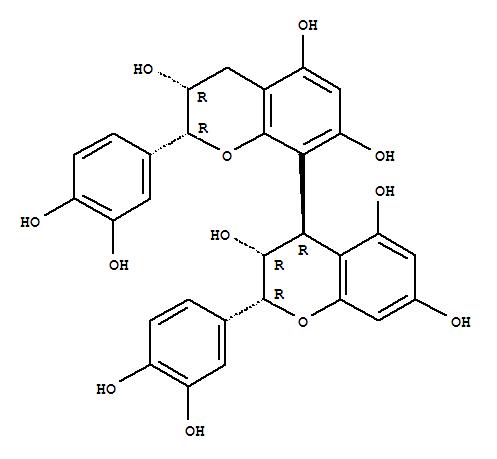 29106-49-8,[4,8'-Bi-2H-1-benzopyran]-3,3',5,5',7,7'-hexol,2,2'-bis(3,4-dihydroxyphenyl)-3,3',4,4'-tetrahydro-, (2R,2'R,3R,3'R,4R)-,[4,8'-Bi-2H-1-benzopyran]-3,3',5,5',7,7'-hexol,2,2'-bis(3,4-dihydroxyphenyl)-3,3',4,4'-tetrahydro-, [2R-[2a,3a,4b(2'R*,3'R*)]]-;[4,8''-Biflavan]-3,3',3'',3''',4',4''',5,5'',7,7''-decol,stereoisomer (8CI);(+)-Procyanidin B2;(-)-Epicatechin-(4b,8)-(+)-epicatechin;(-)-Epicatechin-(4b-8)-(-)-epicatechin;Proanthocyanidin B2;Procyanidol B2;