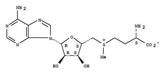 Molecular Structure of 29908-03-0 (S-Adenosyl-L-methionine)