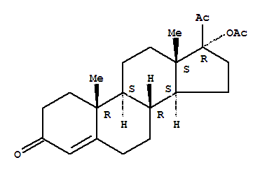 Molecular Structure of 302-23-8 (Hydroxyprogesterone acetate)