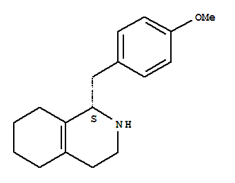 Molecular Structure of 30356-07-1 (Isoquinoline,1,2,3,4,5,6,7,8-octahydro-1-[(4-methoxyphenyl)methyl]-, (1S)-)