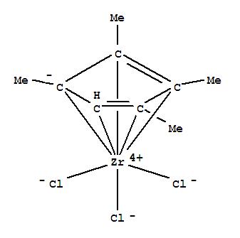 Molecular Structure of 304016-43-1 (Zirconium,trichloro[(1,2,3,4,5-h)-1,2,3,4-tetramethyl-2,4-cyclopentadien-1-yl]-)