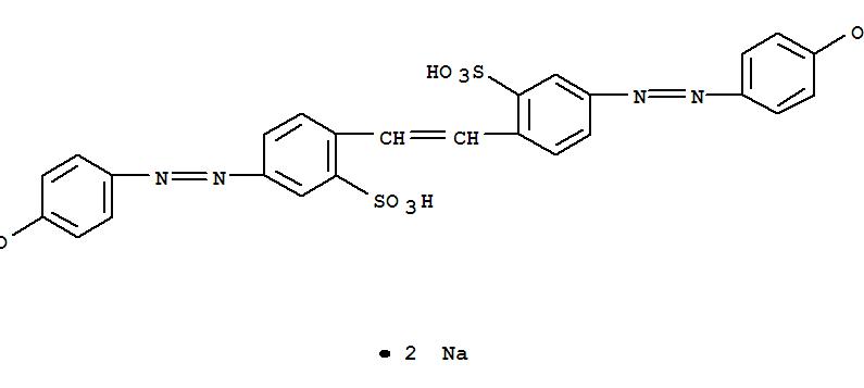 Benzenesulfonic acid,2,2'-(1,2-ethenediyl)bis[5-[2-(4-hydroxyphenyl)diazenyl]-, sodium salt (1:2)(3051-11-4)