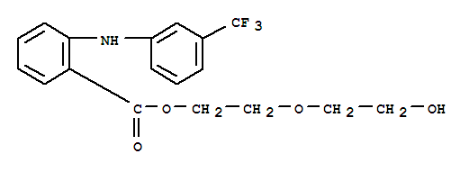 Molecular Structure of 30544-47-9 (Benzoic acid,2-[[3-(trifluoromethyl)phenyl]amino]-, 2-(2-hydroxyethoxy)ethyl ester)