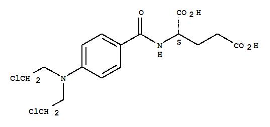 3086-06-4,L-Glutamic acid,N-[4-[bis(2-chloroethyl)amino]benzoyl]-,Glutamicacid, N-[p-[bis(2-chloroethyl)amino]benzoyl]-, L- (7CI)