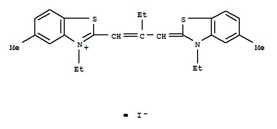 3148-90-1,Benzothiazolium,3-ethyl-2-[2-[(3-ethyl-5-methyl-2(3H)-benzothiazolylidene)methyl]-1-buten-1-yl]-5-methyl-,iodide (1:1),3-Ethyl-2-[2-[(3-ethyl-5-methyl-2-benzothiazolinylidene)methyl]-1-butenyl]-5-methylbenzothiazoliumiodide (6CI,7CI); Benzothiazolium,3-ethyl-2-[2-[(3-ethyl-5-methyl-2(3H)-benzothiazolylidene)methyl]-1-butenyl]-5-methyl-,iodide (9CI); Benzothiazolium, 3-ethyl-2-[2-[(3-ethyl-5-methyl-2-benzothiazolinylidene)methyl]-1-butenyl]-5-methyl-,iodide (8CI); Bis(3-ethyl-5-methyl-2-benzothiazole)-b-ethyltrimethinecyanine iodide