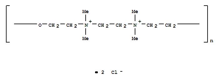 Molecular Structure of 31512-74-0 (Poly[oxy-1,2-ethanediyl(dimethyliminio)-1,2-ethanediyl(dimethyliminio)-1,2-ethanediylchloride (1:2)])
