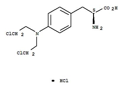 CAS:3223-07-2 C13H19Cl3N2O2 4-BIS(2-CHLORETHYL)-AMINO-L-PHENYLALANINE HYDROCHLORIDE