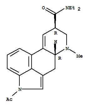 Molecular Structure of 3270-02-8 (Ergoline-8-carboxamide,1-acetyl-9,10-didehydro-N,N-diethyl-6-methyl-, (8b)- (9CI))