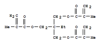 Molecular Structure of 3290-92-4 (2-Propenoic acid,2-methyl-,1,1'-[2-ethyl-2-[[(2-methyl-1-oxo-2-propen-1-yl)oxy]methyl]-1,3-propanediyl]ester)