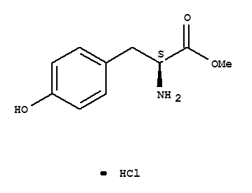 3417-91-2,Methyl L-tyrosinate hydrochloride,L-Tyrosine,methyl ester, hydrochloride (9CI);Tyrosine, methyl ester, hydrochloride, L-(6CI,8CI);(2S)-Methyl 2-ammonio-3-(4-hydroxyphenyl)propionate chloride;(S)-Tyrosine methyl ester hydrochloride;Methyl tyrosinate hydrochloride;NSC 65609;H-Tyr-OMe·HCl;L-Tyrosine, methylester, hydrochloride (1:1);L-Tyrosine methyl ester hydrochloride;