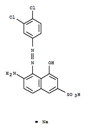 34179-43-6,2-Naphthalenesulfonicacid, 6-amino-5-[2-(3,4-dichlorophenyl)diazenyl]-4-hydroxy-, sodium salt (1:1),2-Naphthalenesulfonicacid, 6-amino-5-[(3,4-dichlorophenyl)azo]-4-hydroxy-, monosodium salt (8CI,9CI)