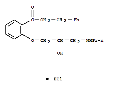 Molecular Structure of 34183-22-7 (1-Propanone,1-[2-[2-hydroxy-3-(propylamino)propoxy]phenyl]-3-phenyl-, hydrochloride (1:1))