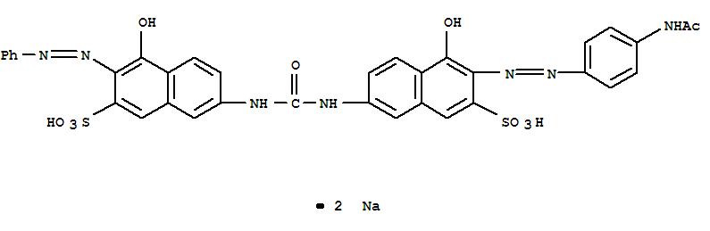 Molecular Structure of 3441-14-3 (2-Naphthalenesulfonicacid,3-[2-[4-(acetylamino)phenyl]diazenyl]-4-hydroxy-7-[[[[5-hydroxy-6-(2-phenyldiazenyl)-7-sulfo-2-naphthalenyl]amino]carbonyl]amino]-,sodium salt (1:2))