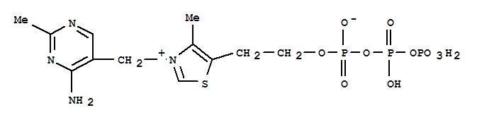 Molecular Structure of 3475-65-8 (Thiazolium,3-[(4-amino-2-methyl-5-pyrimidinyl)methyl]-4-methyl-5-(4,6,8,8-tetrahydroxy-4,6,8-trioxido-3,5,7-trioxa-4,6,8-triphosphaoct-1-yl)-,inner salt)