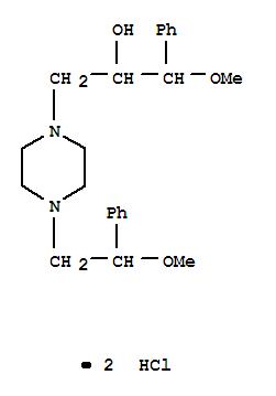 Molecular Structure of 34758-84-4 (1-(2-Methoxy-2-phenyl)ethyl-4-(2-hydro-xy-3-methoxy-3-phenyl)propyl-piperazine dihydrochloride)