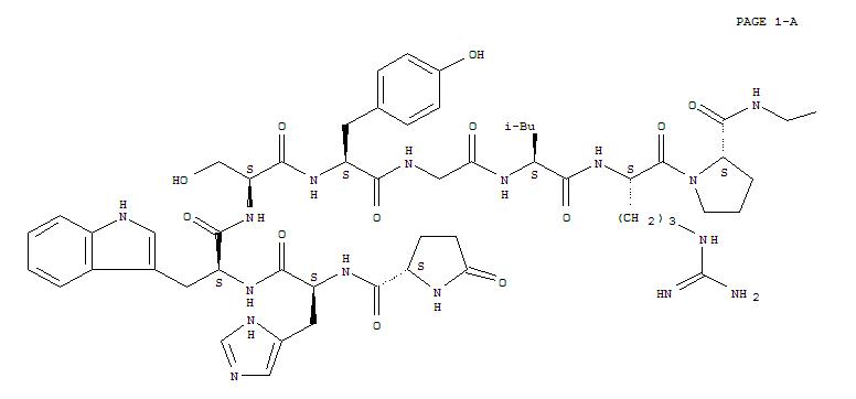 34973-08-5,Luteinizinghormone-releasing factor (swine), acetate (1:?),Luprolite acetate;