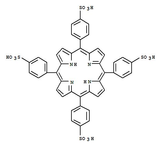 CAS NO:35218-75-8 Benzenesulfonic acid,4,4',4'',4'''-(21H,23H-porphine-5,10,15,20-tetrayl)tetrakis- Molecular Structure
