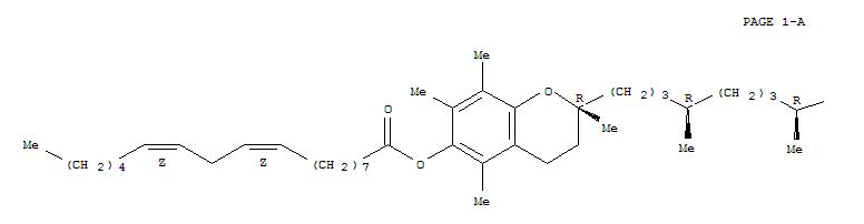 Molecular Structure of 36148-84-2 (9,12-Octadecadienoicacid (9Z,12Z)-,(2R)-3,4-dihydro-2,5,7,8-tetramethyl-2-[(4R,8R)-4,8,12-trimethyltridecyl]-2H-1-benzopyran-6-ylester, rel-)