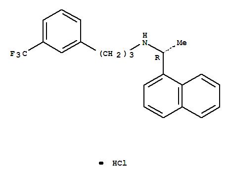 364782-34-3,1-Naphthalenemethanamine,a-methyl-N-[3-[3-(trifluoromethyl)phenyl]propyl]-,hydrochloride (1:1), (aR)-,Mimpara;Regpara;Sensipar;1-Naphthalenemethanamine,a-methyl-N-[3-[3-(trifluoromethyl)phenyl]propyl]-,hydrochloride, (aR)-(9CI);