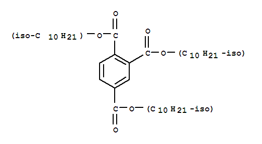 Molecular Structure of 36631-30-8 (1,2,4-Benzenetricarboxylicacid, 1,2,4-triisodecyl ester)