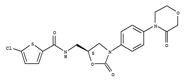 Molecular Structure of 366789-02-8 (Rivaroxaban)