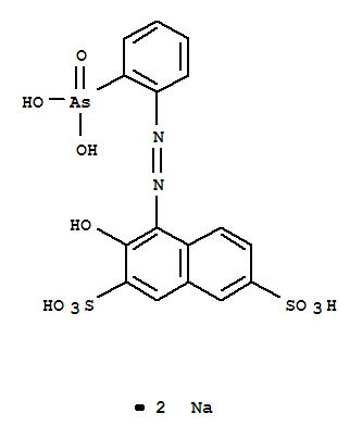 2,7-Naphthalenedisulfonicacid, 4-[2-(2-arsonophenyl)diazenyl]-3-hydroxy-, sodium salt (1:2)