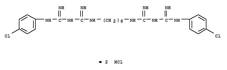 Molecular Structure of 3697-42-5 (Chlorhexidine hydrochloride)